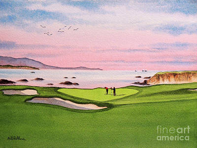 Fathers Day 1 - Pebble Beach Golf Course Hole 8 by Bill Holkham