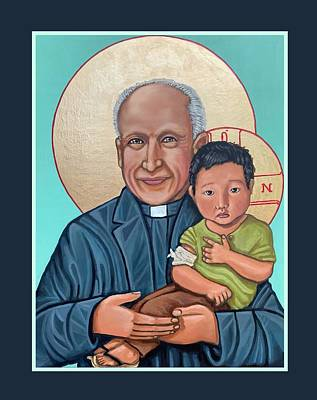 Painting - Pedro Arrupe SJ  by Kelly Latimore