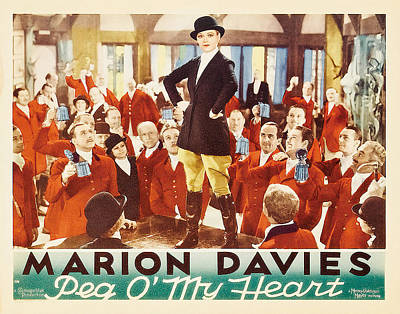 Mixed Media Royalty Free Images - Peg O My Heart, with Marion Davies, 1933 Royalty-Free Image by Stars on Art