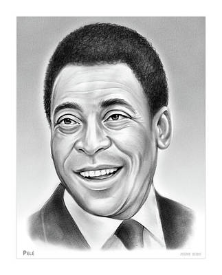 Drawings Royalty Free Images - Pele - pencil Royalty-Free Image by Greg Joens