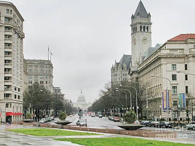 Colored Pencils - Pennsylvania Avenue in Washington 2067 by Jack Schultz