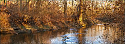 Keith Richards - Pennsylvania Stream in Winter, Late Afternoon by A Macarthur Gurmankin