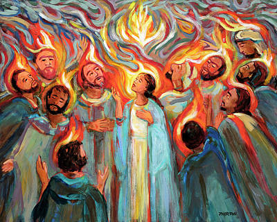 Comic Character Paintings - Pentecost by Jen Norton