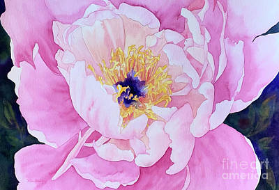 Gaugin Rights Managed Images - Peony Pink Flower Royalty-Free Image by Hilda Vandergriff