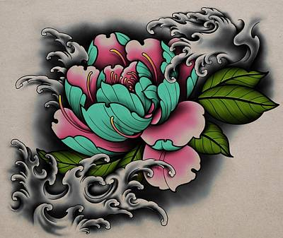 Royalty-Free and Rights-Managed Images - Peony Rose by Samuel Whitton
