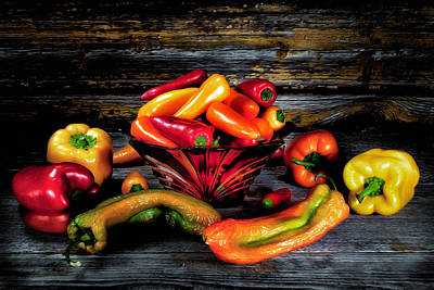 Photograph - Pepper Party by Barry Styles