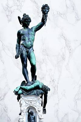 Personalized Name License Plates - Perseus holding the head of Medusa by Benvenuto Cellini, Florence, Italy. by Joe Vella