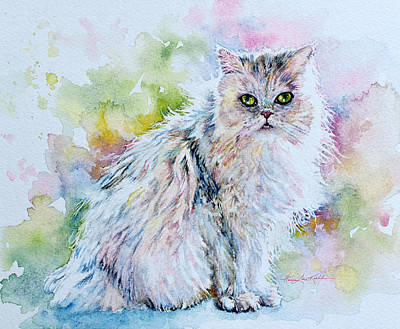 Painting Rights Managed Images - Persian Kitty Royalty-Free Image by Hanne Lore Koehler