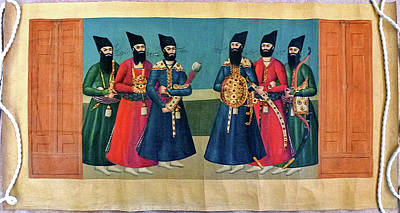 Outerspace Patenets - PERSIAN The Court of Fath Ali Shah at the Nowrooz Salaam Ceremony circa 1830 5 by Artistic Rifki