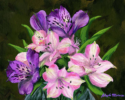 Painting - Peruvian Lilies by Steph Moraca