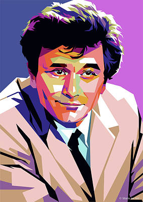 Christmas Christopher And Amanda Elwell - Peter Falk by Stars on Art