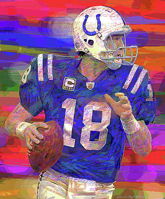 From The Kitchen - Peyton Manning Super Bowl by David Lloyd Glover