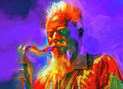 Royalty-Free and Rights-Managed Images - Pharoah Sanders by Mal Bray