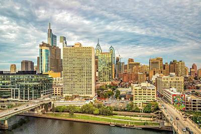 Fruits And Vegetables Still Life - Philadelphia Skyline Looking East by Elvira Peretsman