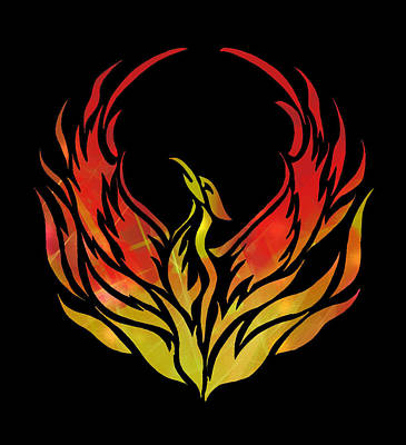 1-war Is Hell Royalty Free Images - Phoenix Rising Royalty-Free Image by Eileen Backman
