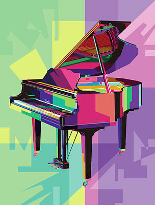 Royalty-Free and Rights-Managed Images - Piano Wpap Pop Art by Ahmad Nusyirwan