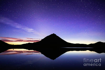 Photograph - Pico Mountain at Night  by Bruno Azera