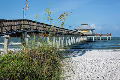 Coy Fish Michael Creese Paintings - Pier at Fort Myers by Mark Chandler