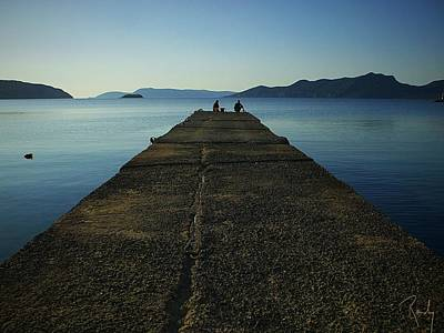 Pop Art Rights Managed Images - Pier in Peloponnese  Royalty-Free Image by Randy Veraguas