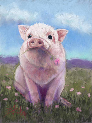 Animals Royalty-Free and Rights-Managed Images - Piggy Love by Billie Colson
