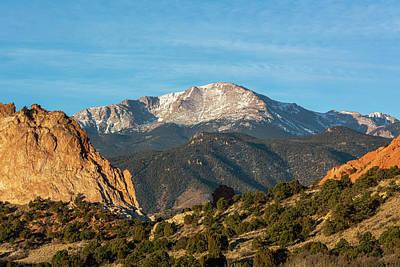 Photograph - Pikes Peak from Garden of the Gods I by Douglas Wielfaert