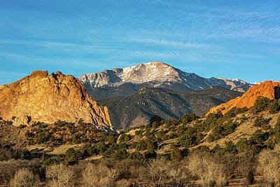 Photograph - Pikes Peak from Garden of the Gods II by Douglas Wielfaert