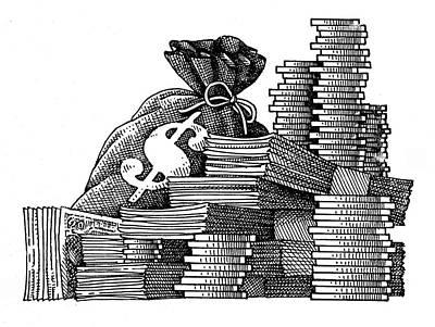 Soap Suds - Pile of Money by Dan Nelson