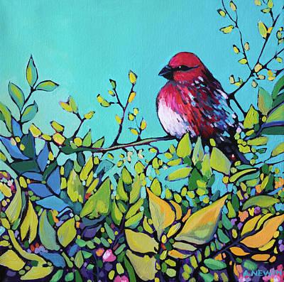 Painting - Pine Grosbeak II by Alison Newth