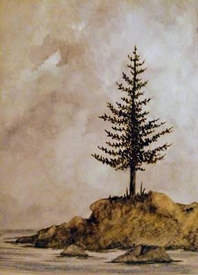 All You Need Is Love - Pine Tree Under Cloudy Skies by Michael Vigliotti