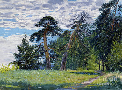 Painting - Pine-trees on the Gorodetsky val by Simon Kozhin