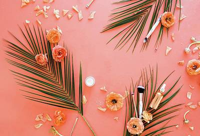 Royalty-Free and Rights-Managed Images - Pink And White Flower Decors by Julien