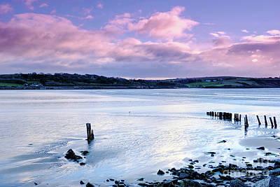 Photograph - Pink blue sandy beach by Lidija Ivanek - SiLa