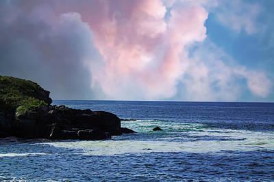 Modern Kitchen - Pink Clouds Over The Ocean by Grace Joy Carpenter