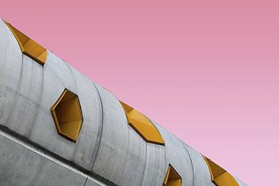 Royalty-Free and Rights-Managed Images - Pink concrete - low angle photography of gray building - Paris, France by Julien