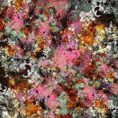 Digital Art - Pink erosion by Keith Mills