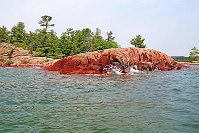 1920s Flapper Girl - Pink Granite Of Granite Of Georgian Bay III by Debbie Oppermann