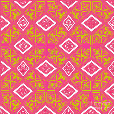Bath Time Rights Managed Images - Pink Mosaic Pattern Royalty-Free Image by Tracy Eatwell