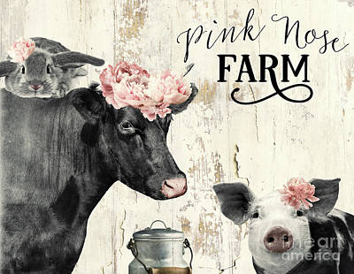 Painting - Pink Nose Farm I by Mindy Sommers