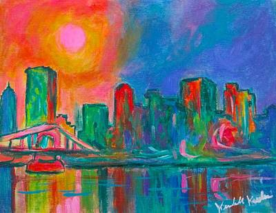 Pittsburgh According To Ron Magnes - Pink over Pittsburgh by Kendall Kessler