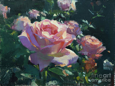 Painting - Pink Rose Study by Patrick Saunders