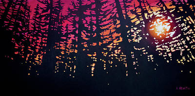 Painting - Pink Sunset by Alison Newth