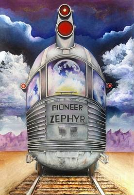 Surrealism Royalty-Free and Rights-Managed Images - Pioneer Zephyr by David Neace