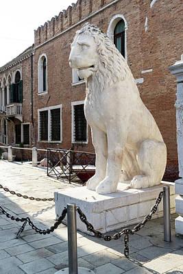 Classical Masterpiece Still Life Paintings - Piraeus Lion - an Ancient Greek Statue Guarding the Venetian Arsenal by Georgia Mizuleva