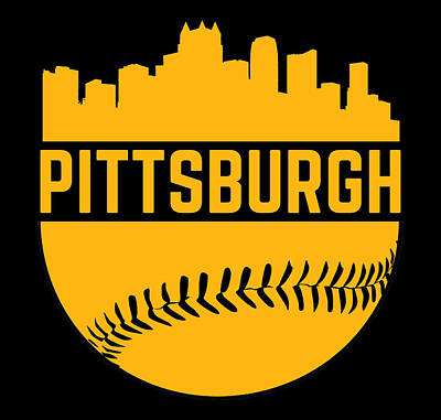 Recently Sold - Sports Royalty-Free and Rights-Managed Images - Pittsburgh Baseball Steel City Skyline Gifts by Aaron Geraud