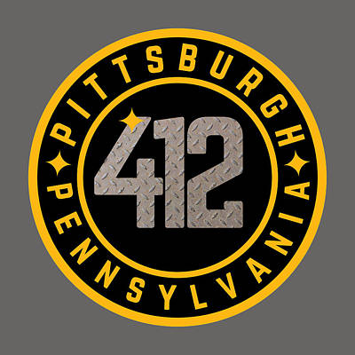 Sports Royalty-Free and Rights-Managed Images - Pittsburgh Pennsylvania 412 Football Home Pride by Aaron Geraud