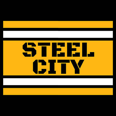Vintage Chevrolet - Pittsburgh Steel City Football Stripes Sports 412 Pride by Aaron Geraud