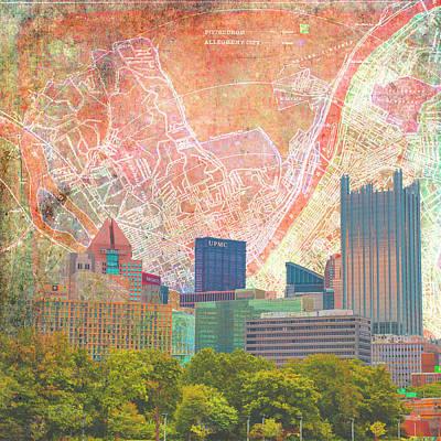 Winter Animals - Pittsburgh Vintage Sky by Brandi Fitzgerald