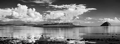 Sheep - Pladda Island - Black and White Edition by Dave Bowman