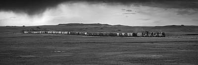 Catch Of The Day - Plains Railroad Panorama by Matt Hammerstein
