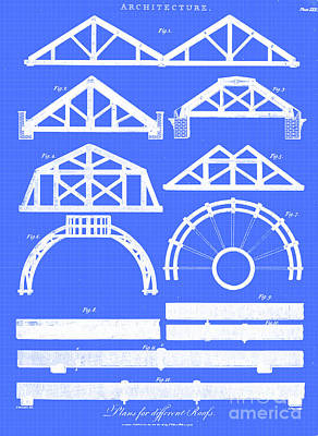 Drawings Royalty Free Images - Plans for different roofs i1 Royalty-Free Image by Historic illustrations